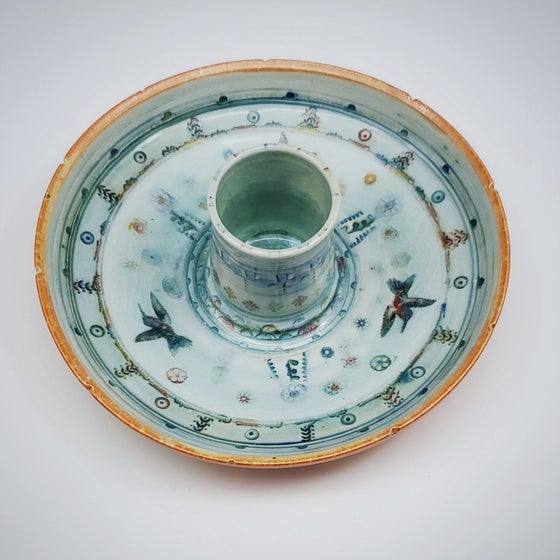 Image of Woodfired Hummingbird Porcelain Dish