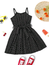Goldie's Toddler Girls Allover Heart Print Belted Cami Dress