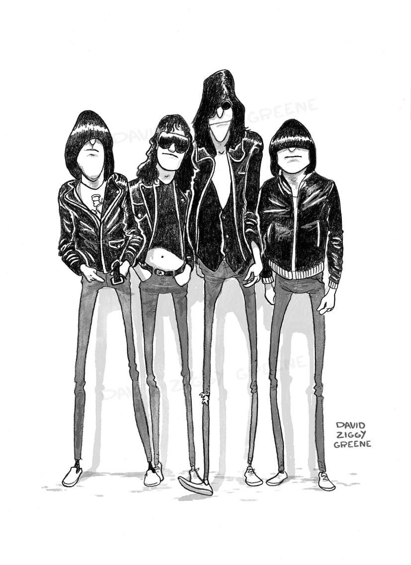 Ramones tribute print