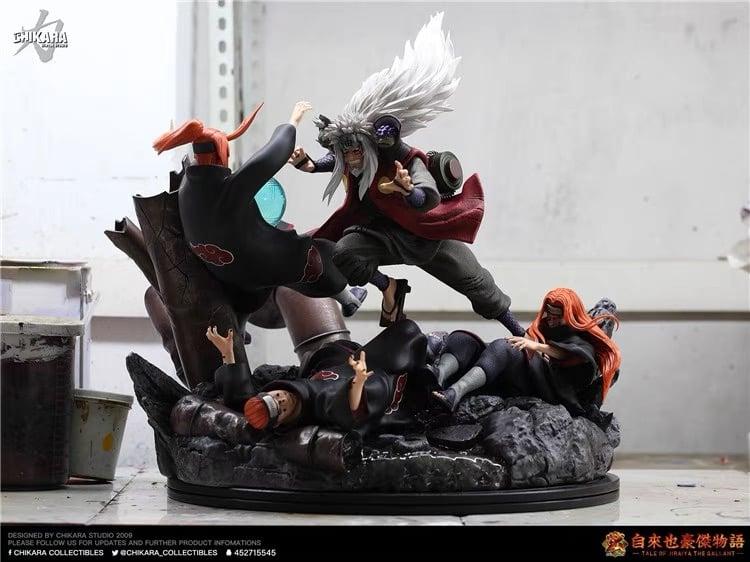 Image of [Back-Order][Last-Stock]Naruto Chikara Studio Jiraiya VS Pain 1:6 Resin Statue