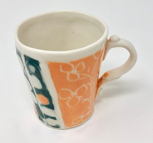 Image of Orange and Dark Teal Small Mug