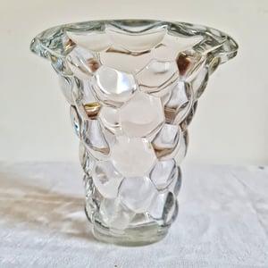 Ancien beau vase en cristal circa 1950