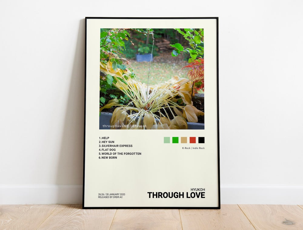Hyukoh - Through Love, KPOP, KROCK, Indie Album Cover Poster