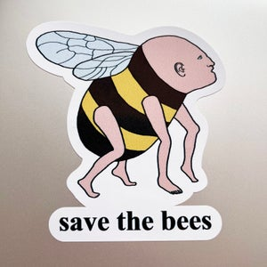 Image of Save the bees sticker