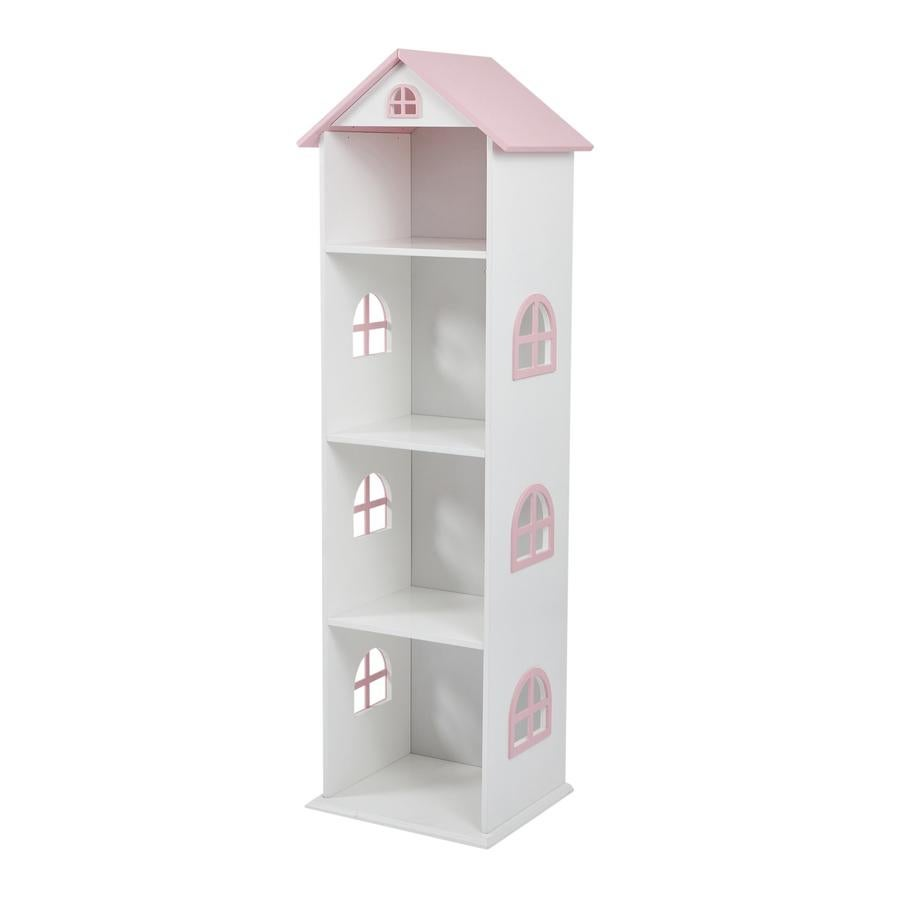 Image of Tall Doll House Book shelf with Pink Roof