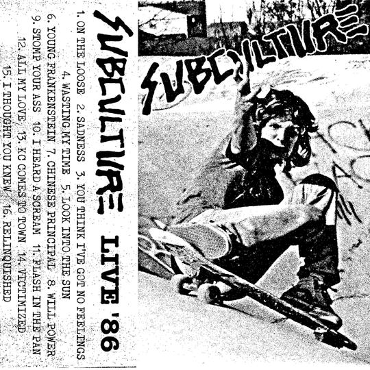 """Image of Subculture - """"Live '86"""" cassette"""