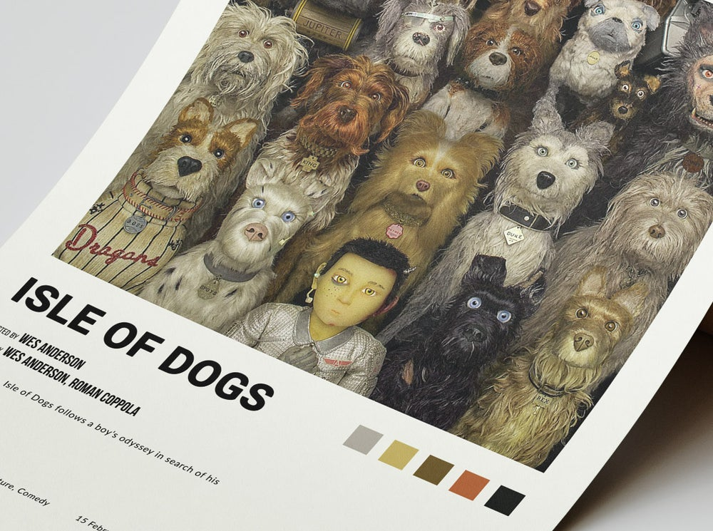 The Isle of Dogs - Wes Anderson Movie Poster