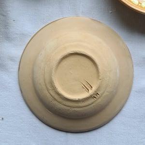 Série de 6 assiettes creuses en céramique artisanale terra cotta beige
