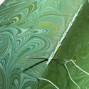 Marbled Notebook Green Swirls Collection