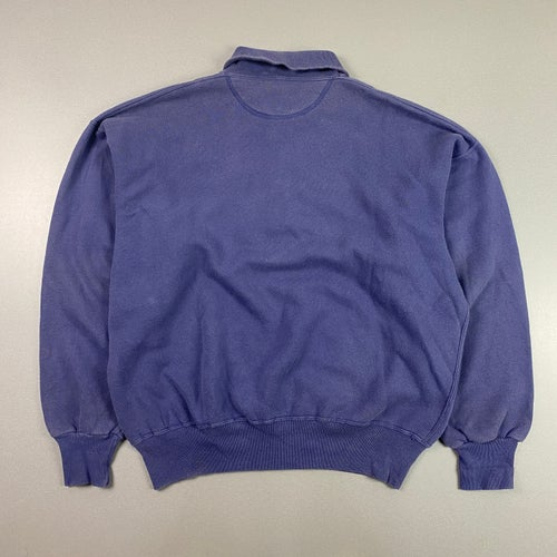 Image of 1980s Best Company 1/4 button up collared sweatshirt, size medium