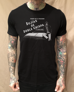 Image of KNIGHT RIDER BUJIAS DE DOBLE CHISPA BLACK TEE