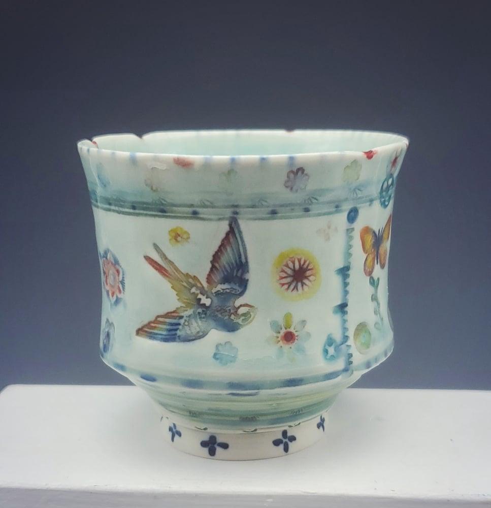 Image of Sphinx Moth Small Porcelain Tea Tumbler