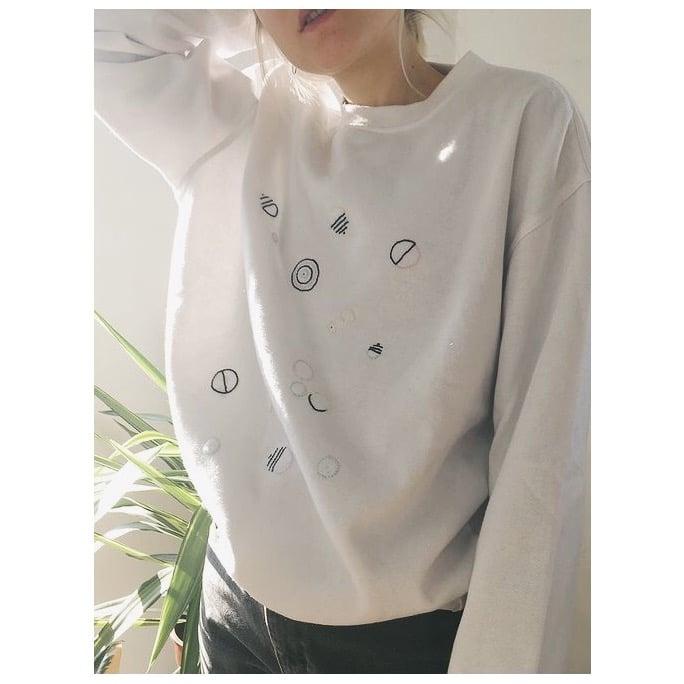 Image of PLANETS & UFOS - Upcycled Sweatshirt