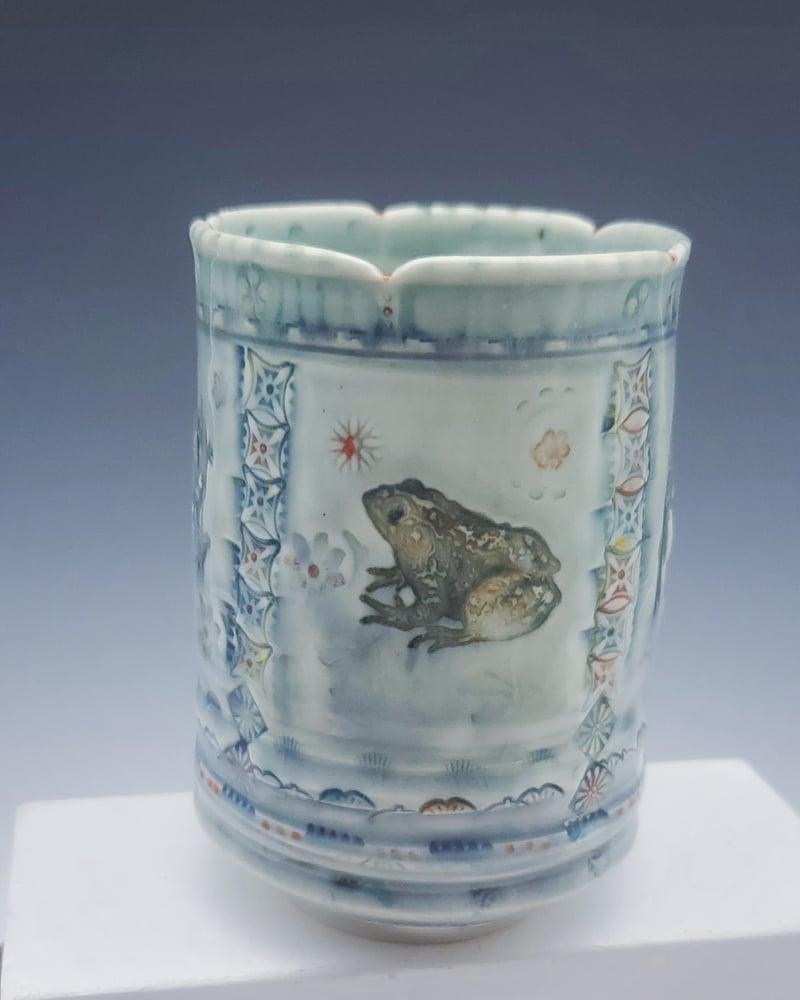 Image of Cornflower Blue Vernal Porcelian Tumbler