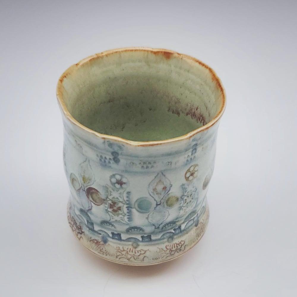 Image of Porcelain Woodfired Tapestry Tea Tumbler