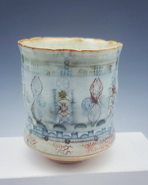 Image of Porcelain Woodfired Tapestry Tea Tumbler
