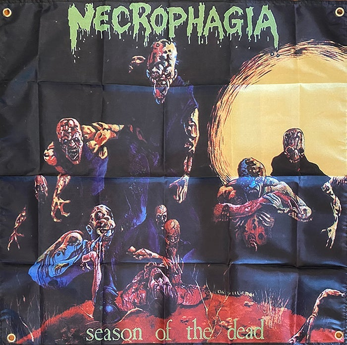 """Image of Necrophagia """" Seasons Of The Dead """" Flag / Banner / Tapestry"""