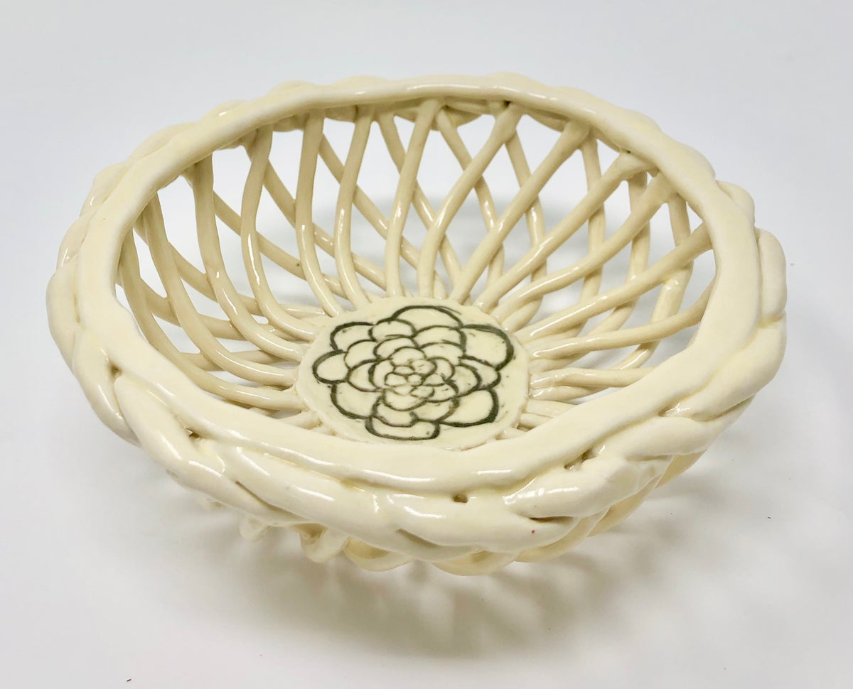 Image of Yellow Lattice Bowl