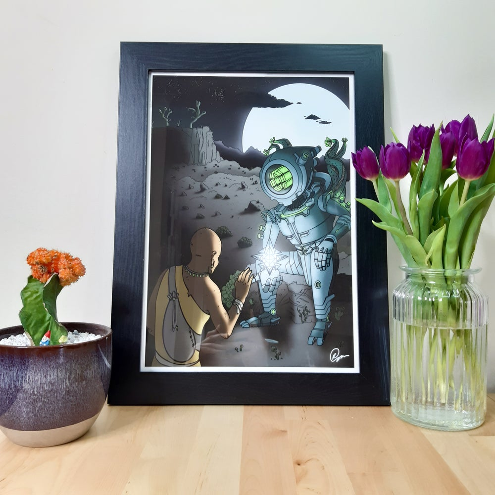 The Visitor A3 Giclee Art Print