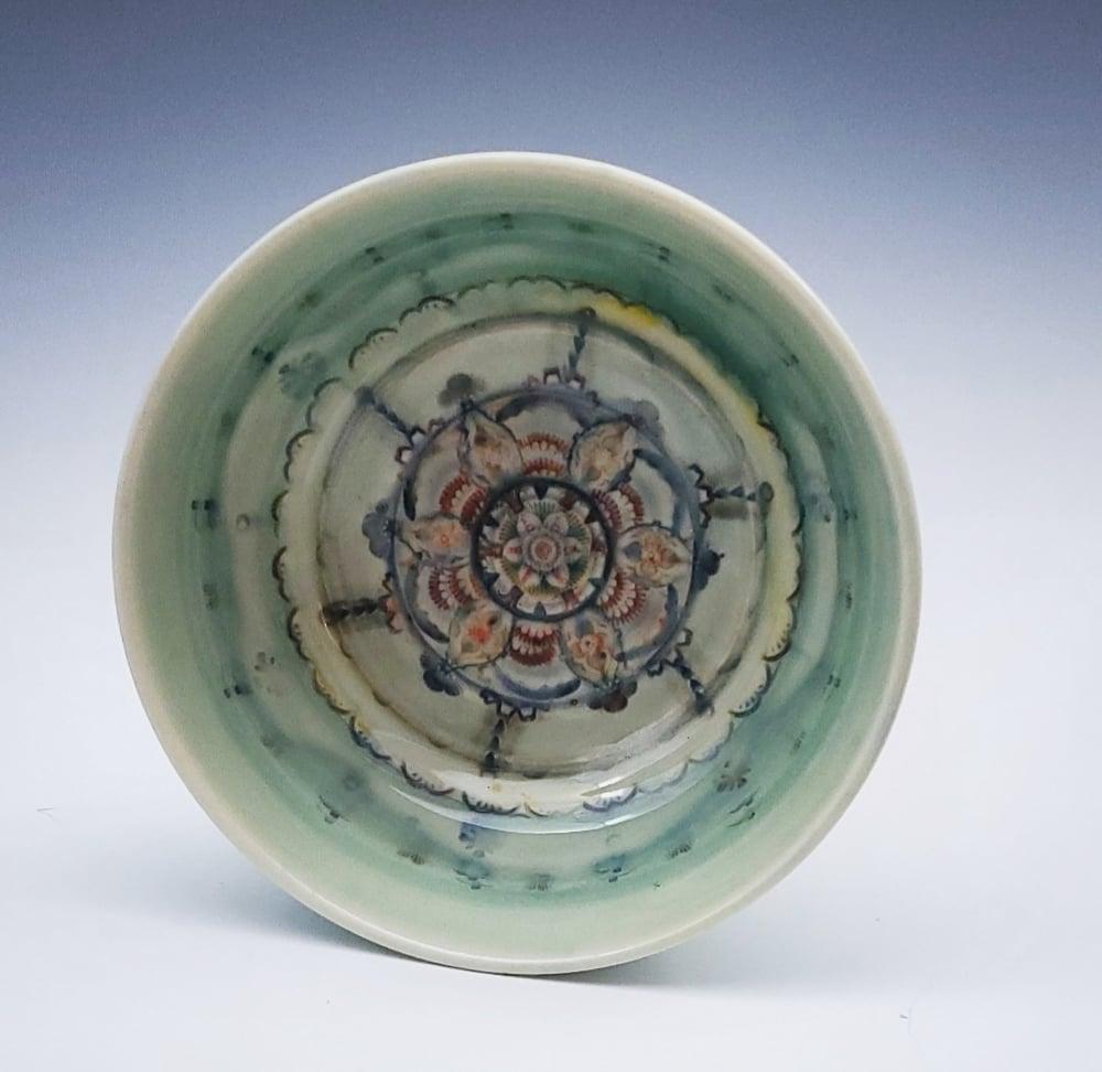 Image of Green Glow Mandala Dish