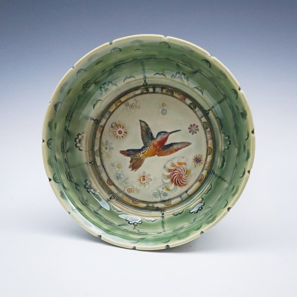 Image of Sap Green Hummingbird Dish