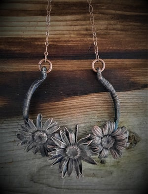 Image of Electroplated Daisy Necklace