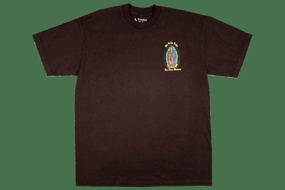 Image of Virgen de Guadalupe T-Shirt Brown