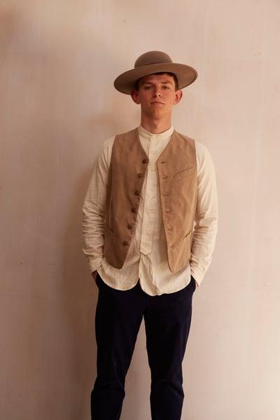 Image of California waistcoat Beige Corduroy