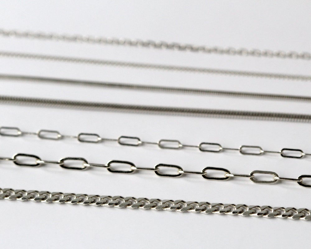 Long Link Sterling Silver Chain
