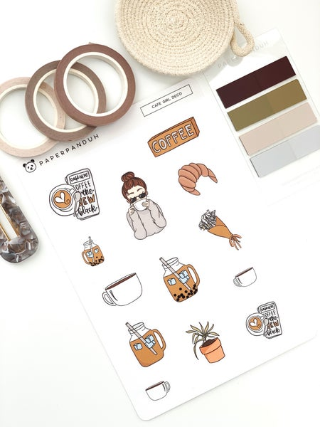 Image of Café Girl Sticker Kit
