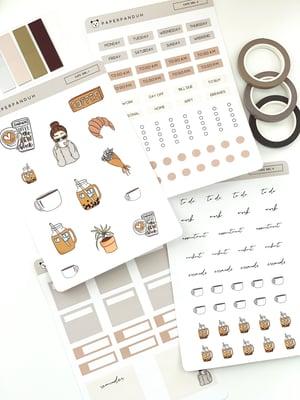 Image of Café Girl Sticker Kit
