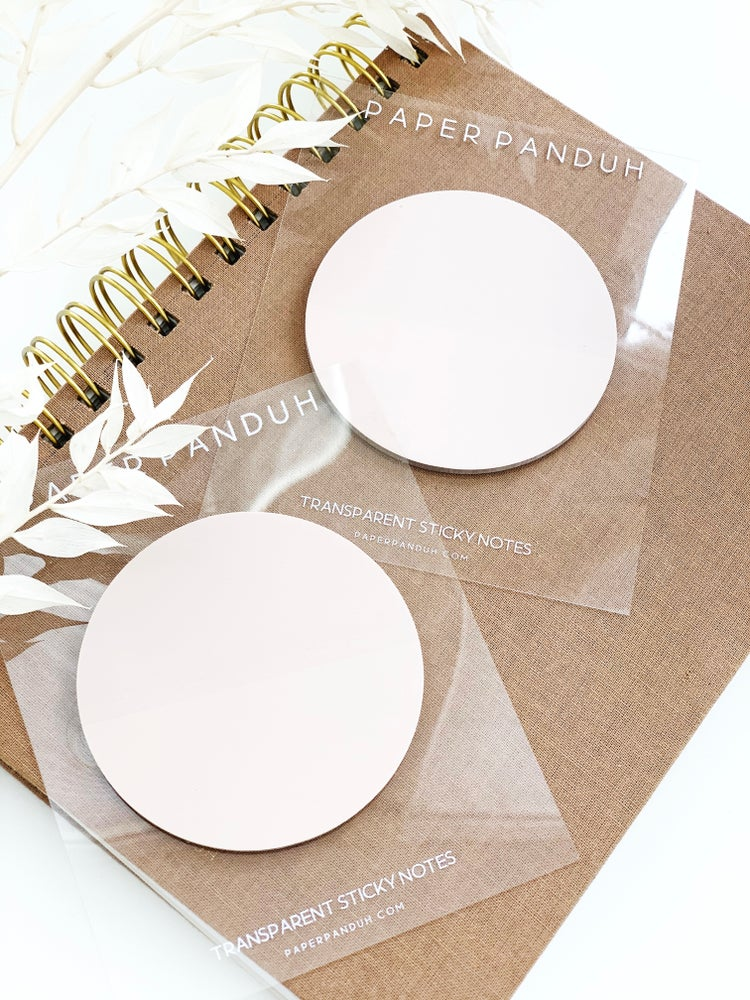 Image of Transparent Nude Circle Sticky Note