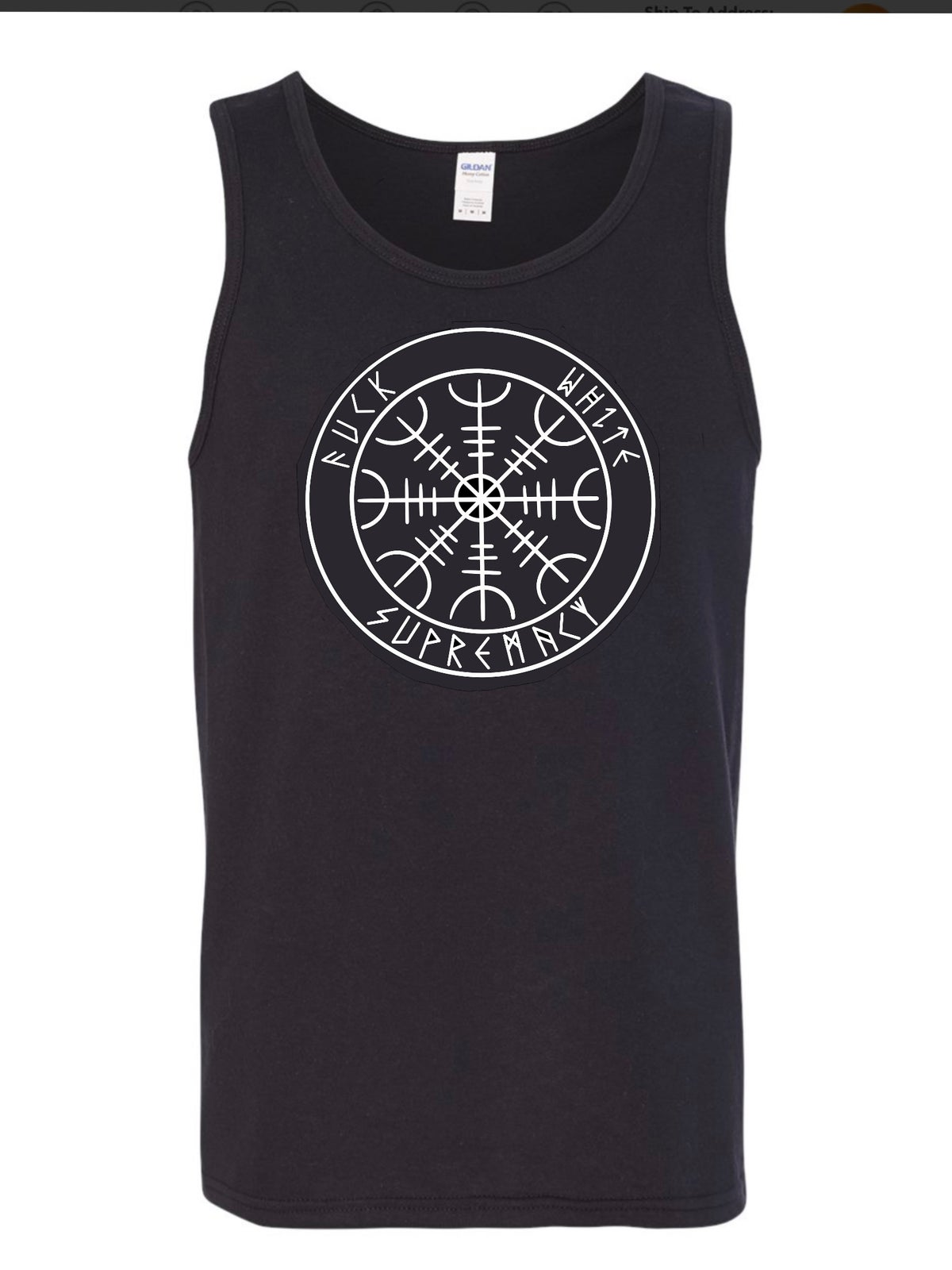 "Image of Helm of Awe ""Fuck White Supremacy"" Tank Top (Pre-Order)"