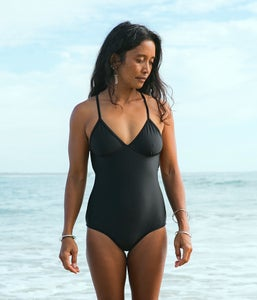 Image of Crossover Onepiece - Black