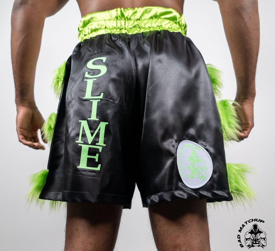 Image of Black/Lime Trunks/Fur