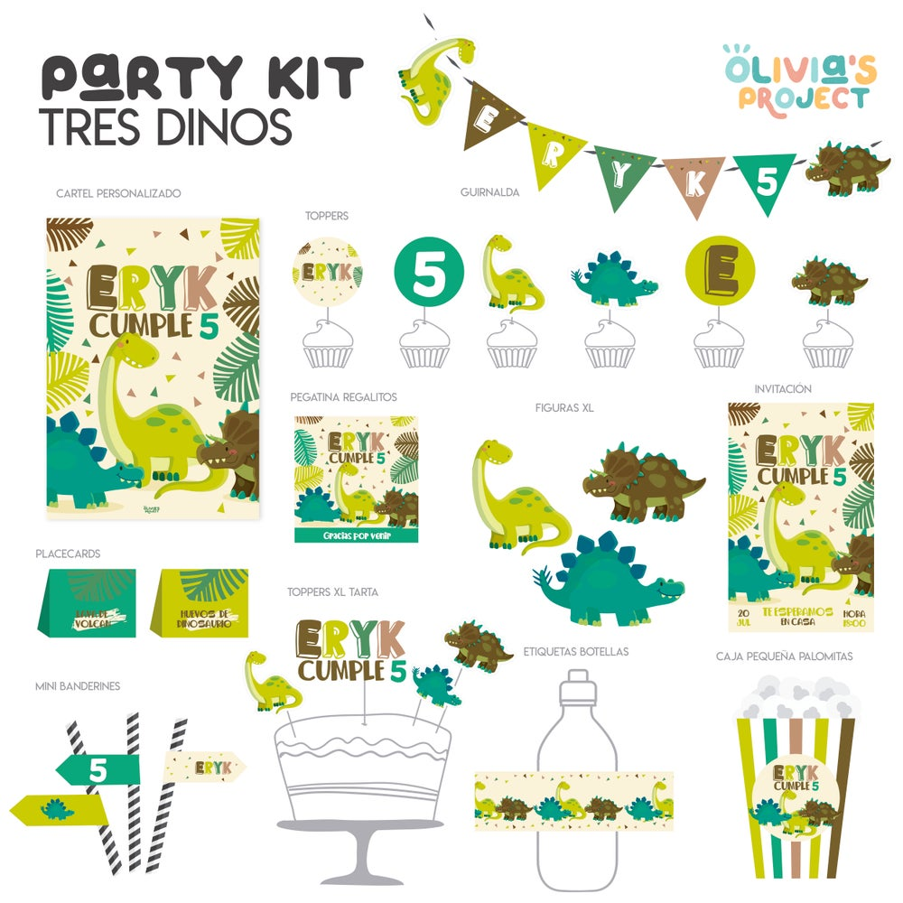 Image of Party Kit Tres Dinos