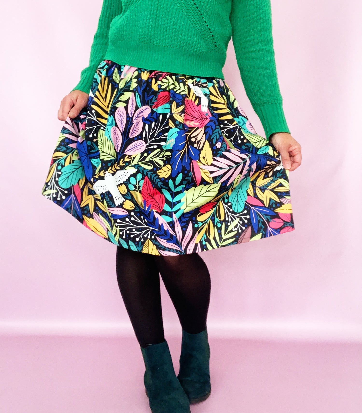 Ready Made Soaring Birds Laura Skirt with free postage