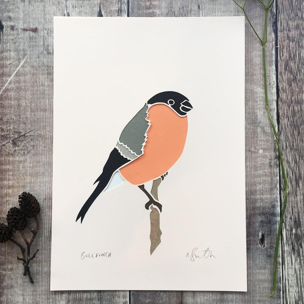 Image of Bullfinch Paper cut