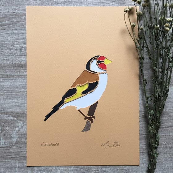 Image of Goldfinch paper cut