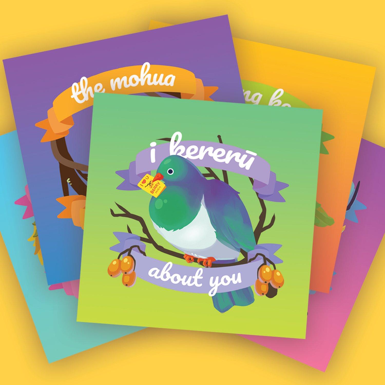 Image of NZ Natives Main Set - Greeting Cards