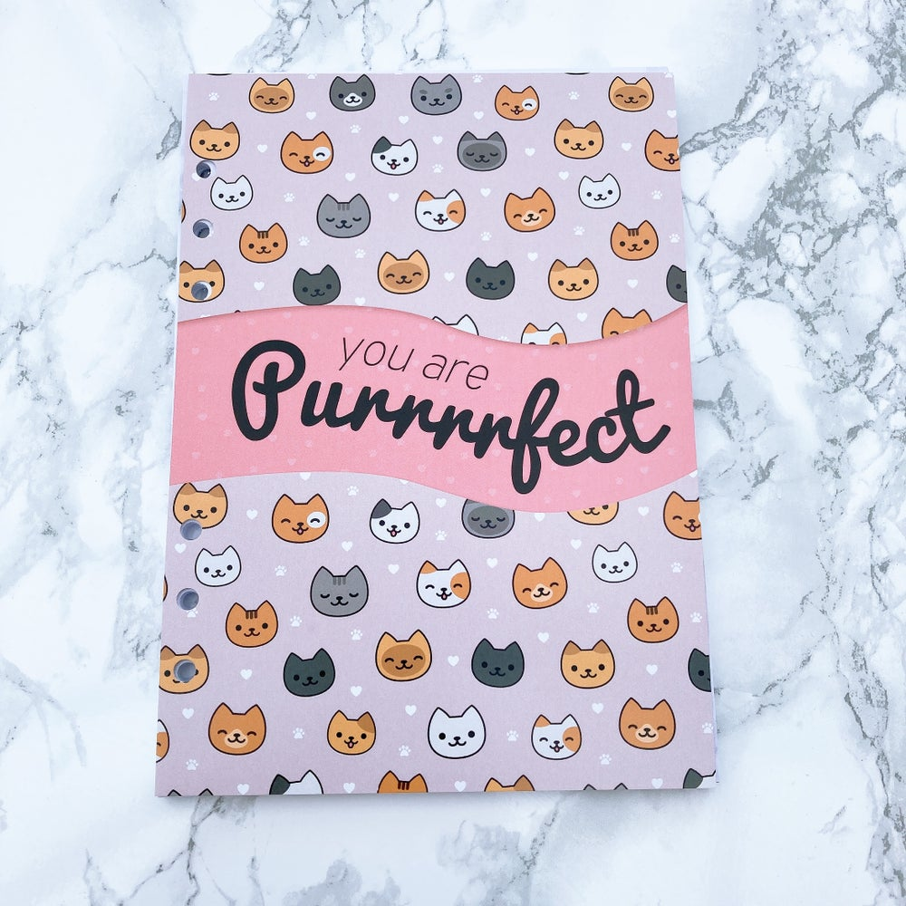 Image of A5 FOOD DIARY ORGANISER INSERT- YOU ARE PURRRFECT