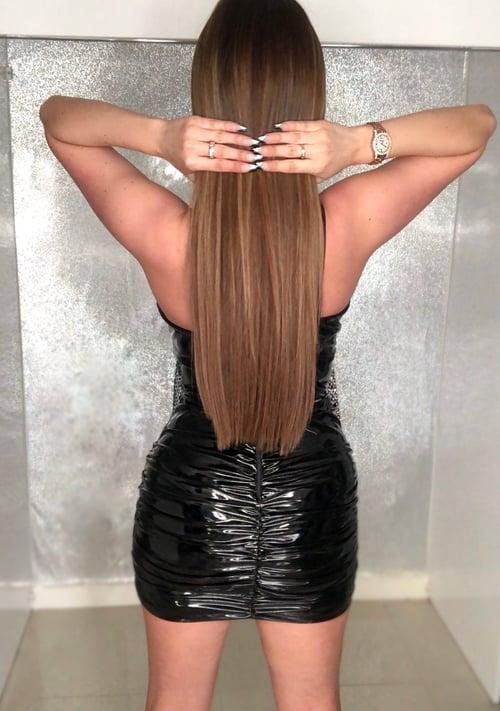 Image of PVC Ruched Mini Skirt - Black