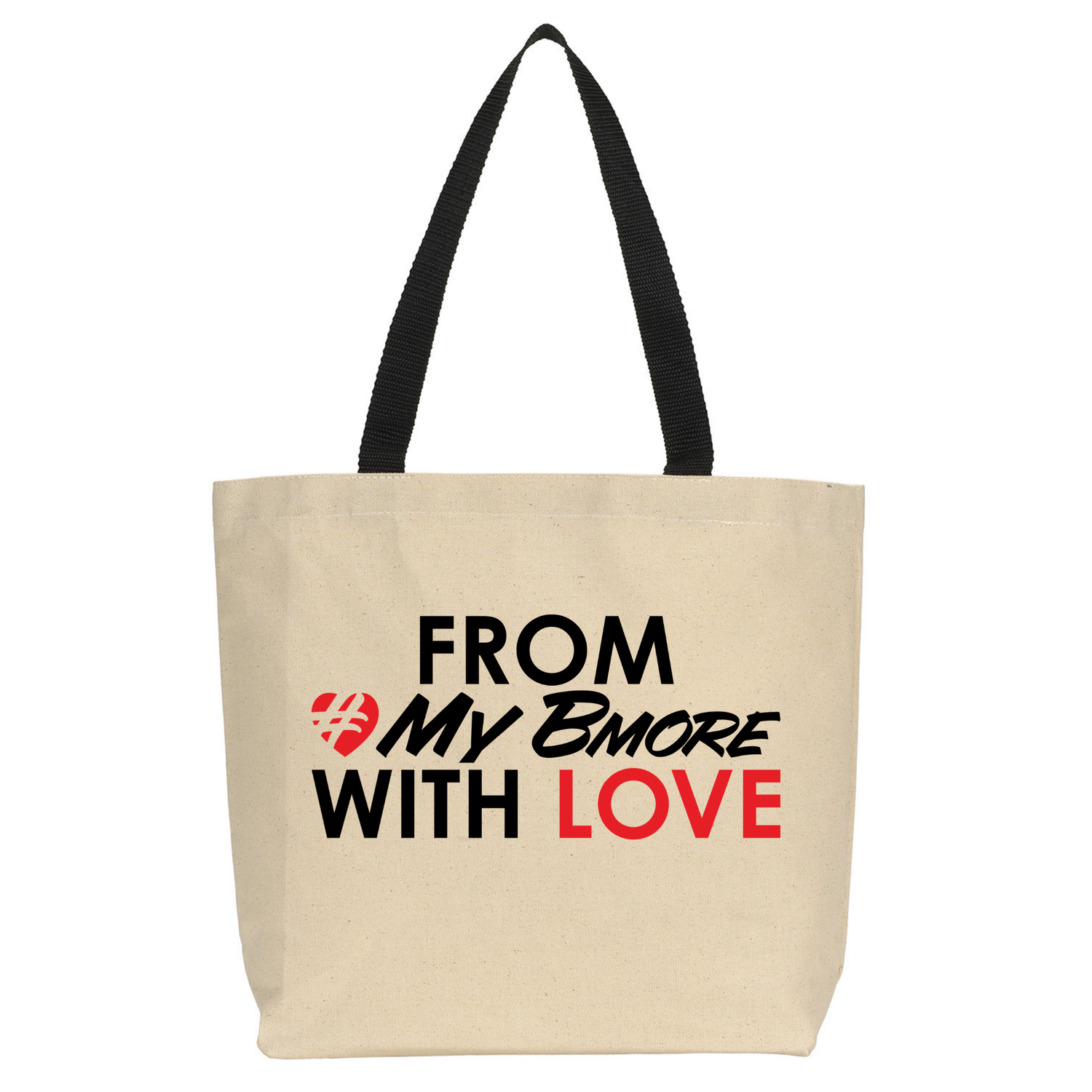 Image of From #MyBmore With Love - Tote Bag [Tan]