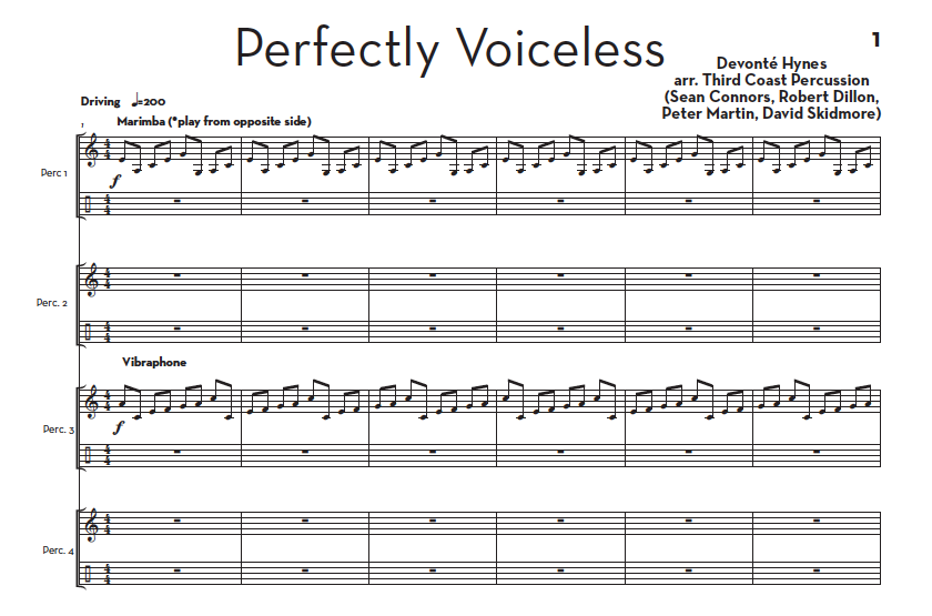 Image of Perfectly Voiceless - Score and Parts