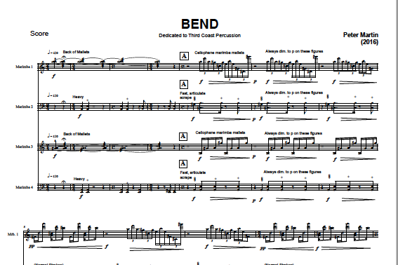 Image of BEND - Score and Parts