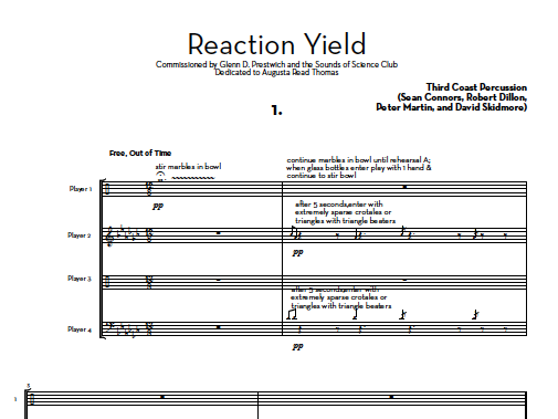 Image of Reaction Yield - Score and Parts