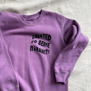 Humanity Sweater in Purple Rain