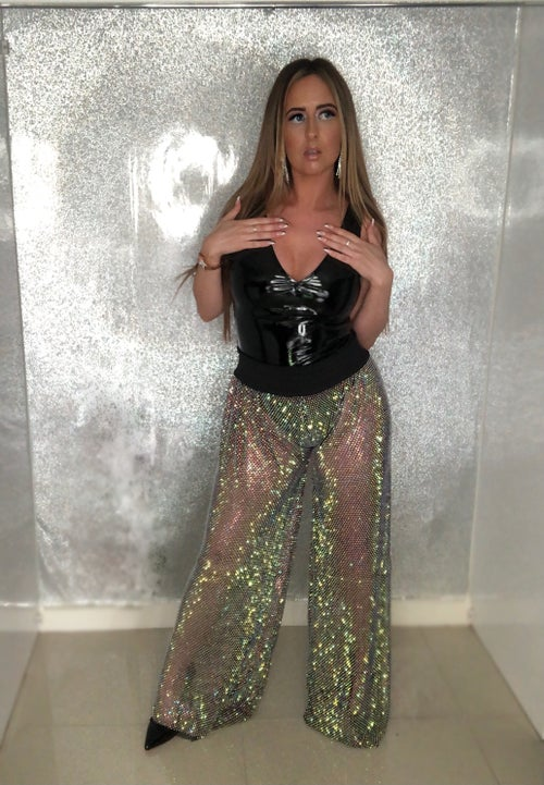 Image of Crystal Wide Leg Trousers