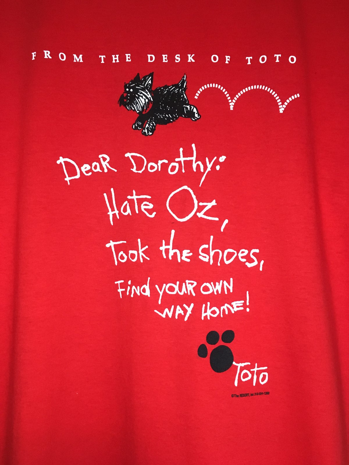 Late 90's  Wizard Of Oz Toto Tee
