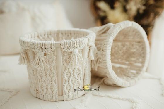 Image of Cream macrame basket - pre order
